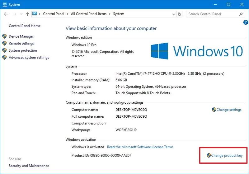windows 1 pro product key
