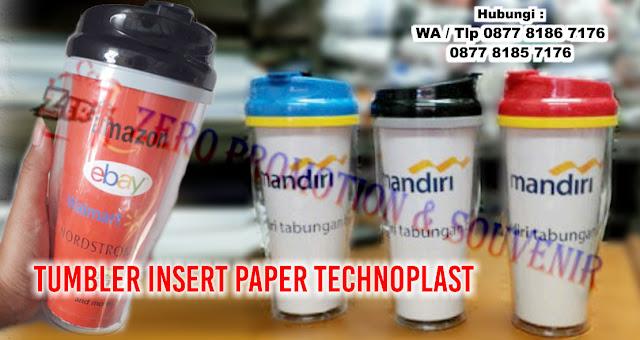 Cetak Souvenir Tumbler Insert Paper Technoplast, Tumbler Botol Minum G200 Technoplast, Tumbler Insert Paper