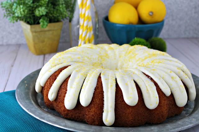 Easy Lemon Pudding Bundt Cake from LoveandConfections.com