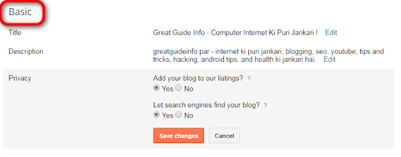 Blogger Blog Ki Besic Setting Kaise Karte Hain