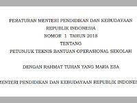 BERIKUT PERMENDIKBUD NO 1 TAHUN 2018 TENTANG JUKNIS BANTUAN OPERASIONAL SEKOLAH (BOS)