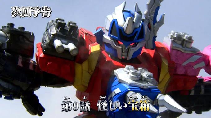 Spoiler Kishiryu Sentai Ryusoulger Episode 9, Debut Kishiryu-Oh Triken