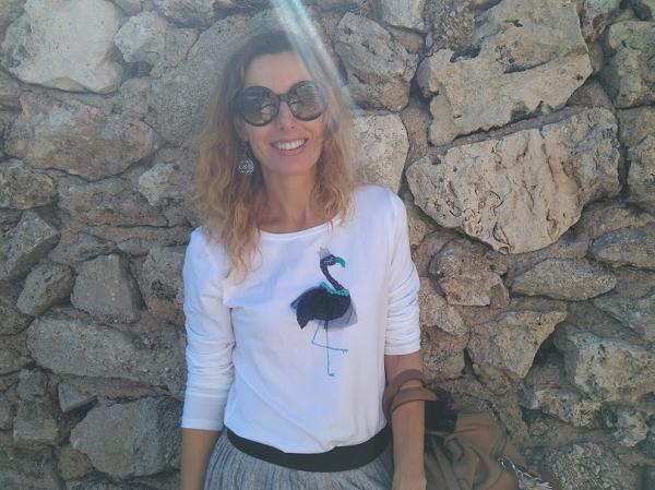 camiseta flamenco hecha a mano
