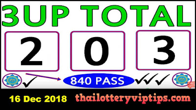 Thailand Lottery 3up Total sure win number 16 December 2018