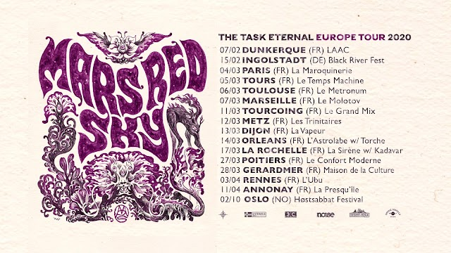 [News] Mars Red Sky Euro-tour 2020