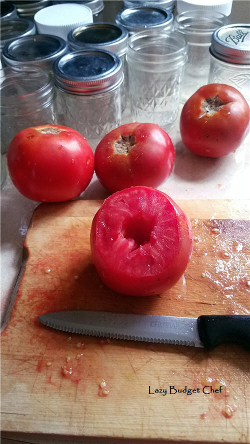 How to peel tomatoes the lazy way