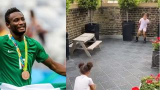 Check out video of Mikel obi's Twins playing football like their Dad