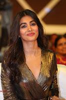 Pooja Hegde looks glamarous in deep neck sleevless short tight golden gown at Duvvada Jagannadham thank you meet function 126.JPG
