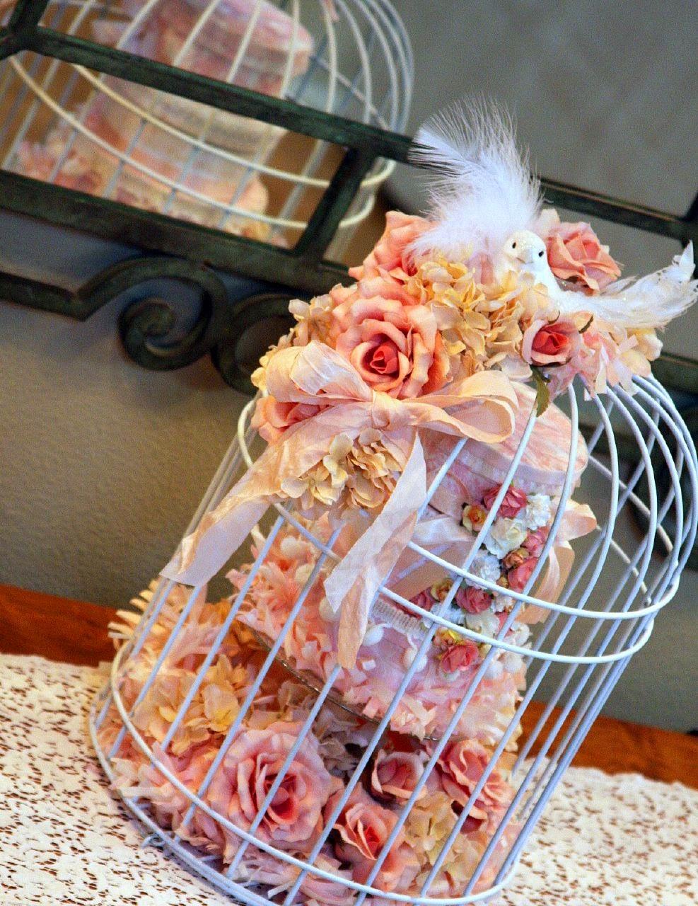 Mini birdcage centerpieces - photo#36