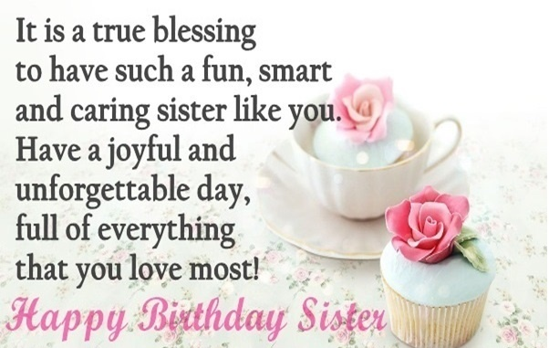Happy Birthday To A Special Sister Quotes: Cute Happy Birthday Sister Quotes