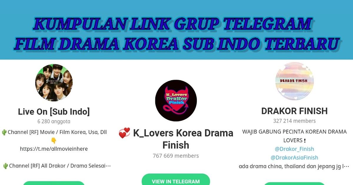 Kumpulan Link Grup Telegram Drakor Drama Korea Terlengkap