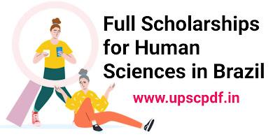 Full scholarships for Human Sciences in Brazil