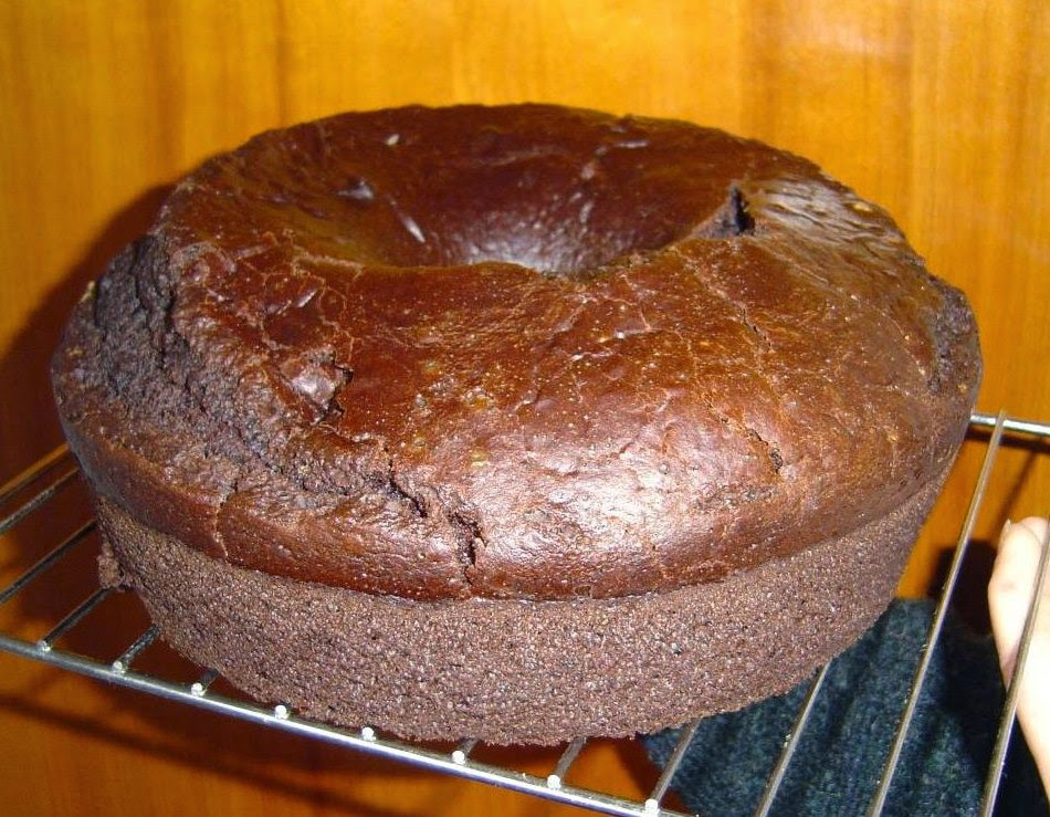 Eggless Choco-Banana Bundt Cake Image