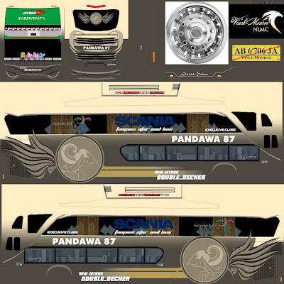 livery shd pandawa 87 abu-abu