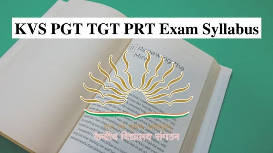 KVS PGT TGT PRT Syllabus
