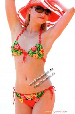 bikini patrón crochet, ganchillo ropa de baño, prendas de playa