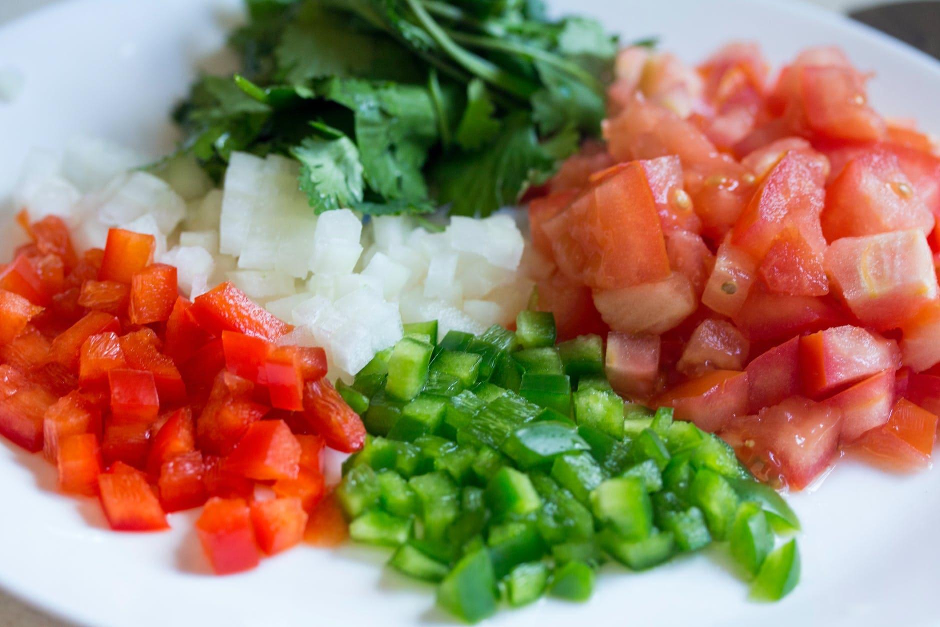 Healthy quinoa salad for diet