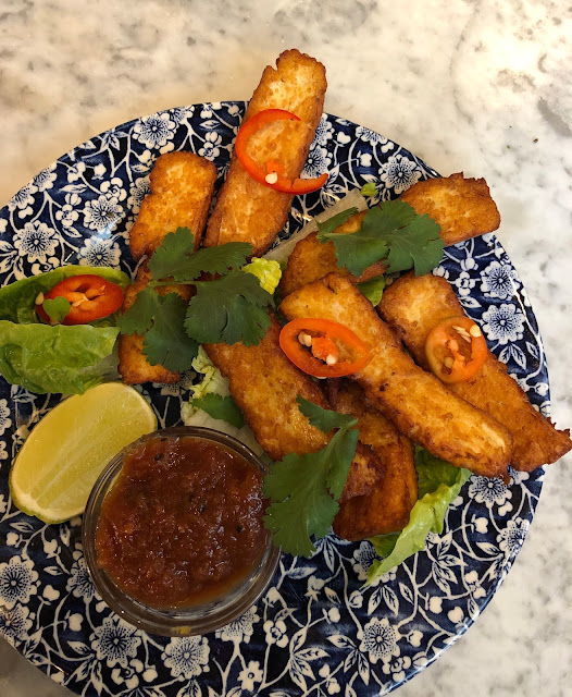 bills crumbed halloumi sticks in cardiff