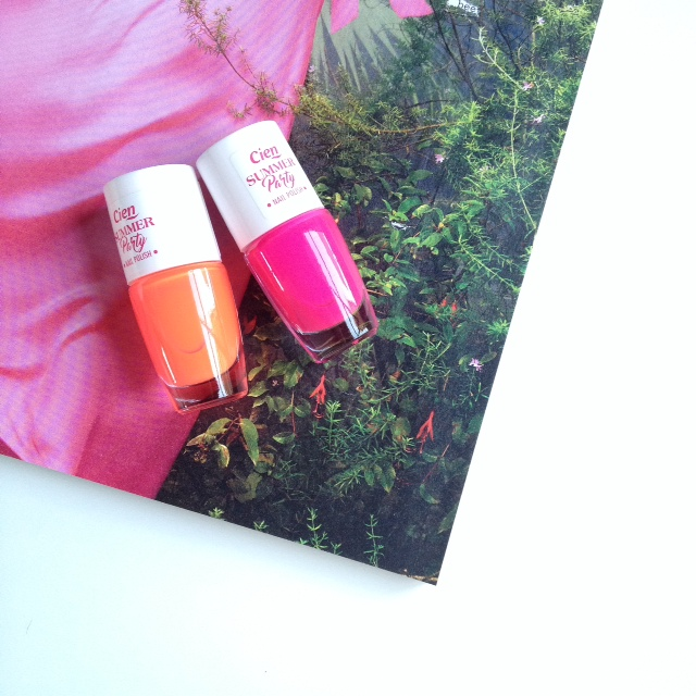 Cien Neon Nail Polish 'Neon Orange' & 'Neon Pink'