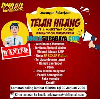 Loker Surabaya di Pawon Rakyat Terbaru Januari 2020