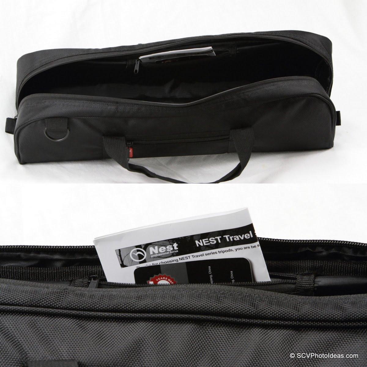 Nest NT-6294CT carrying case internal pocket detail