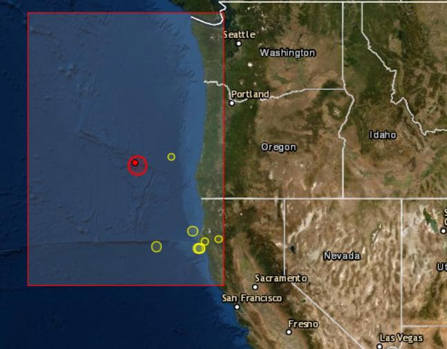 Earthquake Prediction: 6 3R off coast of Oregon