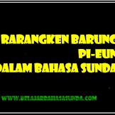 Mengenal Rarangken Barung Pi-eun Dalam Bahasa Sunda Lengkap Dengan Contoh Kalimatnya