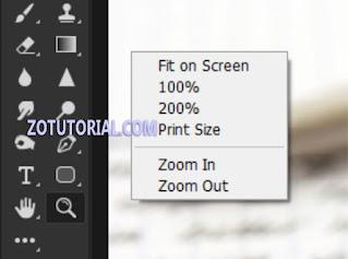 Cara menggunakan Zoom Tools di Photoshop