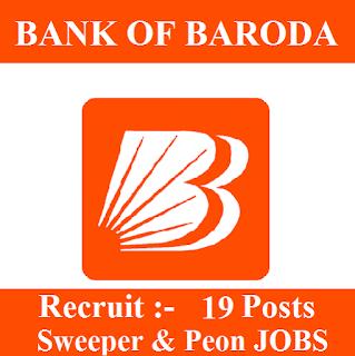 10th, Bank, Bank Of Baroda, BOB, freejobalert, Latest Jobs, Peon, Chandigarh, Sarkari Naukri, Sweeper, bob logo