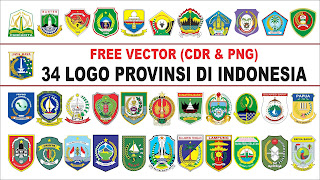 34 Logo Provinsi di Indonesia Format CDR