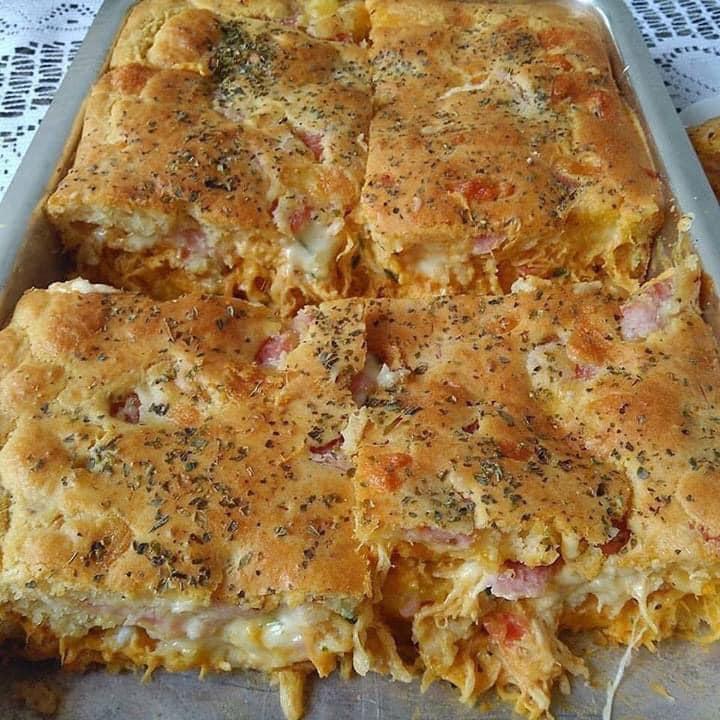 Receta Tarta de Pollo Cebolla