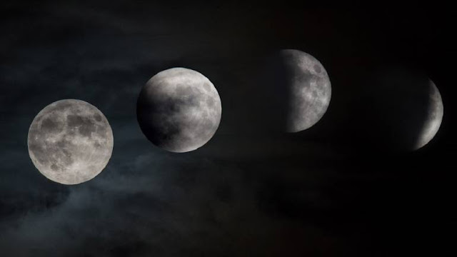 Partial Lunar Eclipse seen in Saudi Arabia