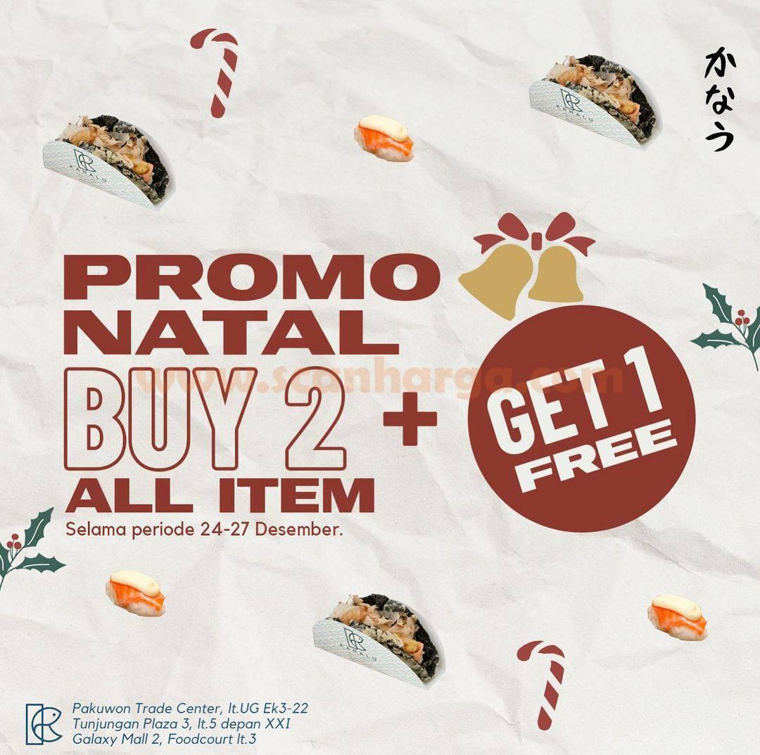 Promo KANALU NORI TACO Spesial Natal – BUY 2 GET 1 FREE !