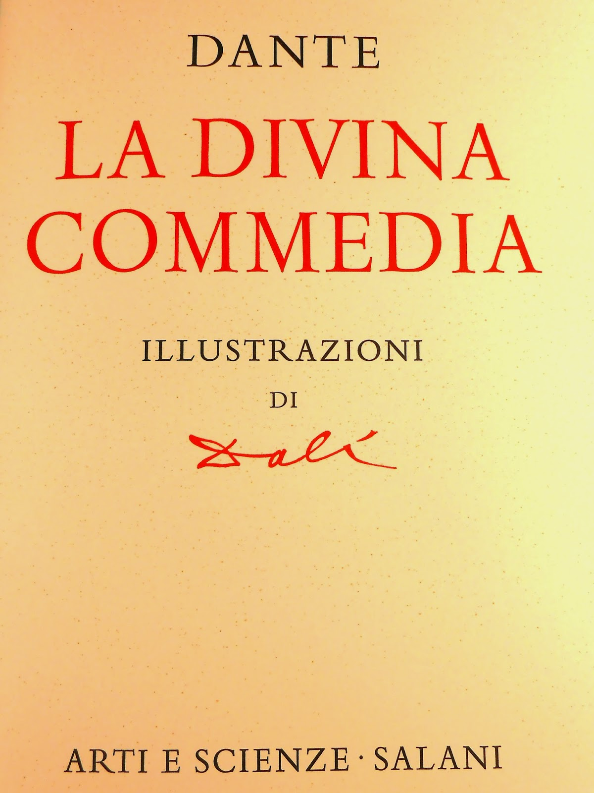 "A title page for ""La Divina Commedia."""