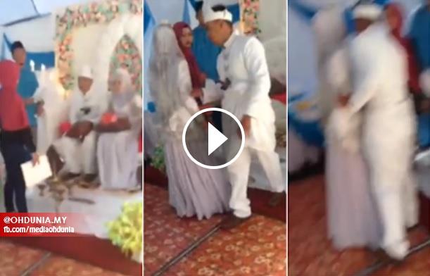 Video: Isteri Serang Suami Sedang Bersanding, Kantoi Kahwin Lain Secara Senyap
