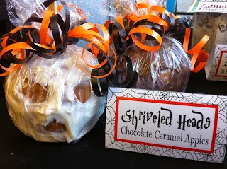 Skull Head Chocolate Caramel Apples