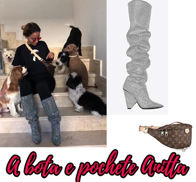 A bota e a pochete grifado da Anitta