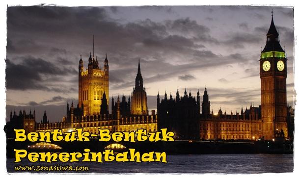 Bentuk-Bentuk Pemerintahan | www.zonasiswa.com