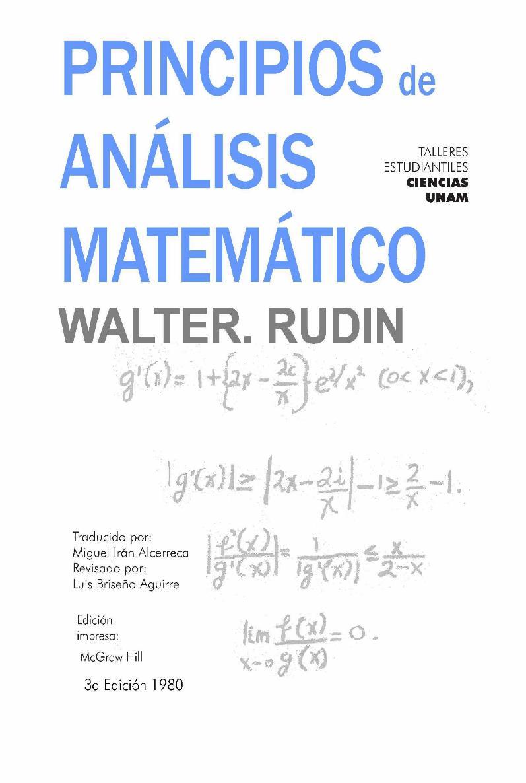 Principios de Análisis Matemático – Walter Rudin