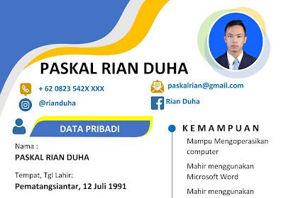 Download 20+ CV Lamaran Kerja Format PDF Free Mudah Diedit