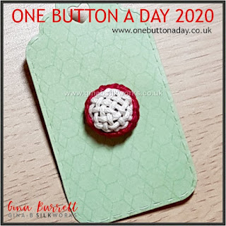Day 218 : Crosshatch - One Button a Day 2020 by Gina Barrett