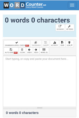 Word counter, Online word counter, Paragraph counter, Spelling checker,