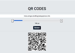 Generador de códigos QR de treboada.info
