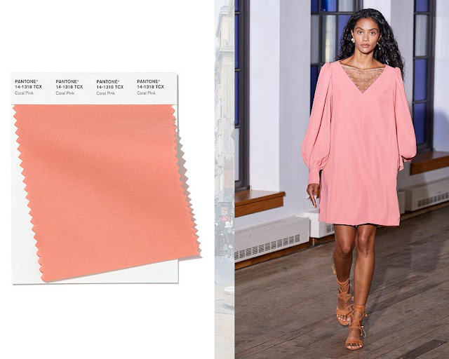 Розовый коралл модные цвета весна-лето 2020 1