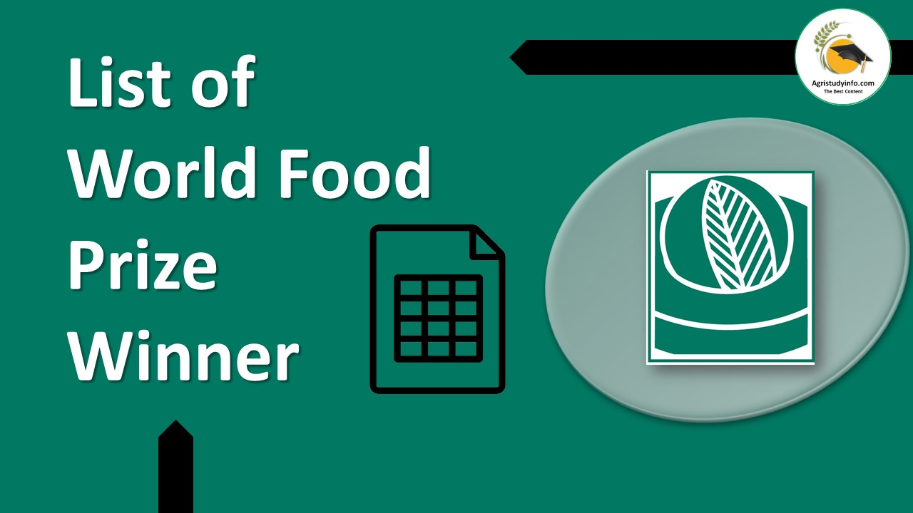 Read more about the article List of World Food Prize Winner