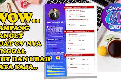Ingin Tahu  Cara Membuat CV Menarik  di WORD?