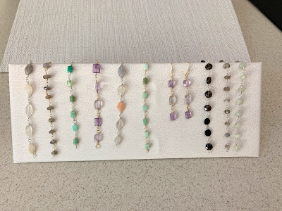Step by step how to Make jewelry display bracelet instructions
