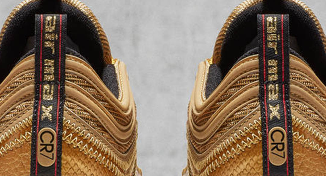 buy online 6a440 279c5 cristiano ronaldo with nike air max 97 cr7 gold for sale