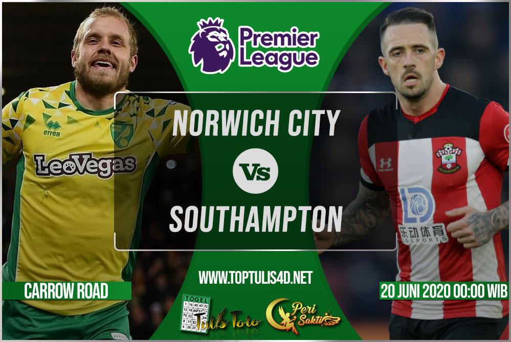 Prediksi Norwich City vs Southampton 20 Juni 2020