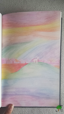 biały konik, wzgórze, kolory, tęcza, ekspresjonizm, koloryzm